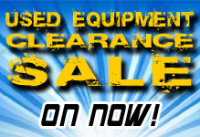 Used Equipment Clearance Sale
